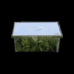 Коптильня Smoke-House: 520x300x280, кришка плоска, нержавіюча 1.5 мм