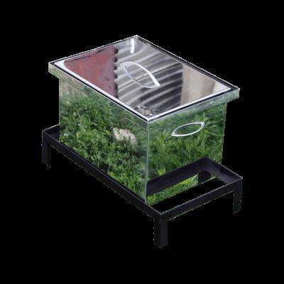 Коптильня Smoke-House: 400х300х280, кришка плоска, нержавіюча 1.5 мм