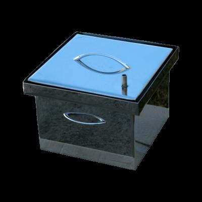 Коптильня Smoke-House: 300х300х200, кришка плоска, нержавіюча 1.5 мм
