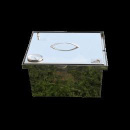 Коптильня Smoke-House: 400х300х280, з термометром, нержавіюча 1.5 мм