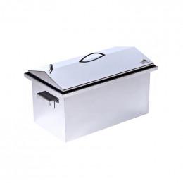 Коптильня Smoke-House: 520x300x320, кришка домик, нерж 1.5 мм