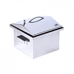 Коптильня Smoke-House: 300x300x250, крышка домик, нерж 1.5 мм