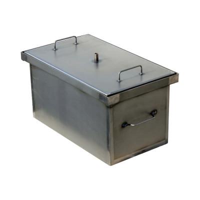 Коптильня Smoke-House: 520x300x280, кришка плоска, сталь 1.5 мм
