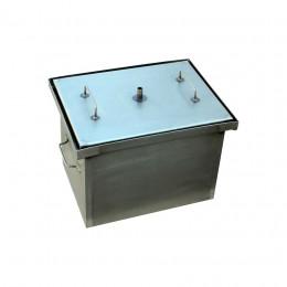 Коптильня Smoke-House: 400x300x280, кришка плоска, сталь 1.5 мм