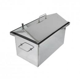 Коптильня Smokki House: 450х250х300, крышка домик, нерж 1.5 мм