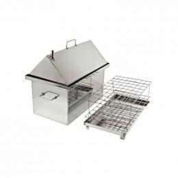 Коптильня Smokki House: 520х320х400, кришка домик, нерж 1.5 мм