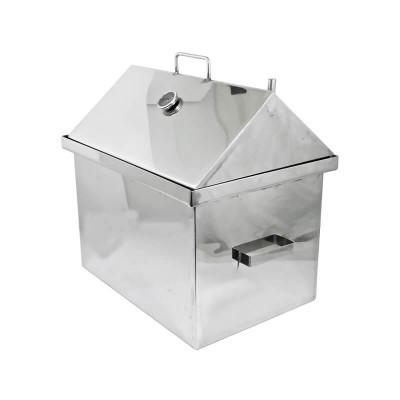 Коптильня Коптілов: 560х410х550, з термометром, домик, нерж 2 мм