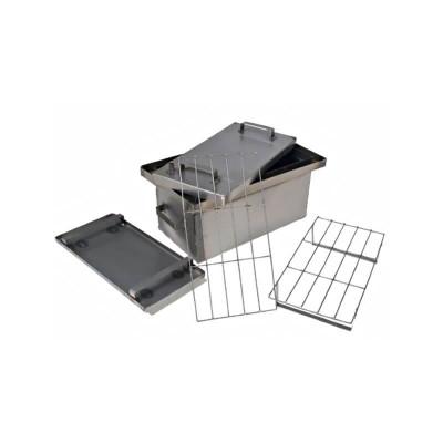 Коптильня Smokki House: 450х250х250, крышка плоская, сталь 1 мм