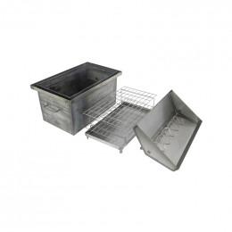 Коптильня Коптілов: 550x330x350, кришка домик, сталь 2 мм