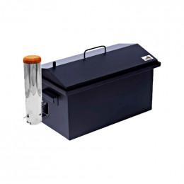 Коптильня с дымогенератором Smoke House: 520х300х320, термокраска, сталь 1.5 мм