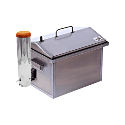 Коптильня с дымогенератором Smoke House: 400х300х320, сталь 1.5 мм
