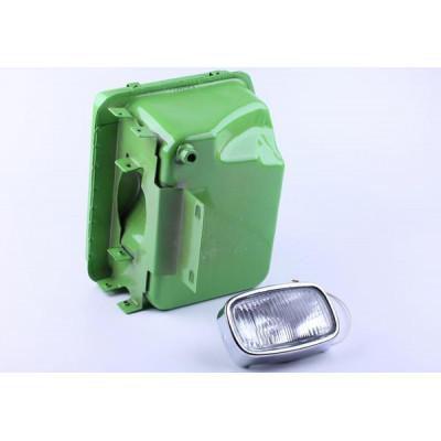 Бак топливный + фара, выступающая горловина - ZUBR original - 180N для мотоблока