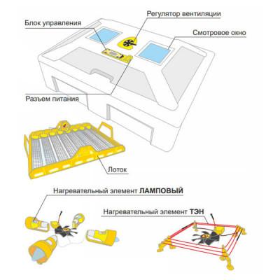 Из чего состоит инкубатор для яиц и его конструкция