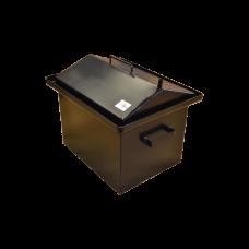 Коптильня с гидрозатвором: 420х340х330, крышка домик, термокраска, сталь 2 мм