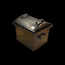 Коптильня с гидрозатвором: 420х340х330, крышка овал, термокраска, сталь 2 мм