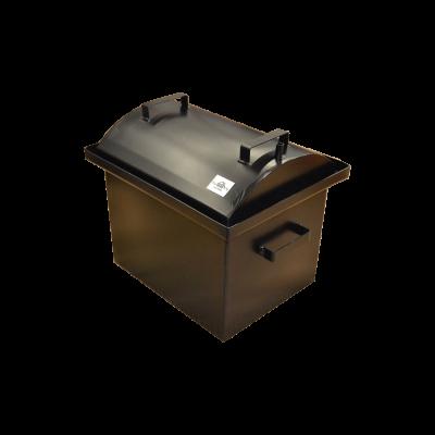Коптильня Hot Smoking: 420х340х330, кришка кругла, термофарба, сталь 2 мм