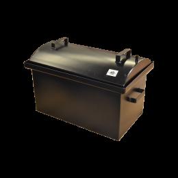 Коптильня Hot Smoking: 510х320х330, кришка кругла, термофарба, сталь 1.5 мм