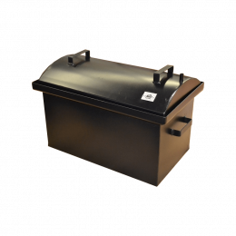 Коптильня Hot Smoking: 510х320х330, крышка круглая, термокраска, 2 мм