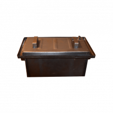 Коптильня с гидрозатвором: 470х270х200, крышка плоская, сталь 1 мм