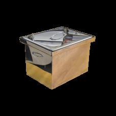 Коптильня с гидрозатвором: 400х310х280, крышка плоская, нерж 1.5 мм