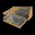 Коптильня Hot Smoking: 400х310х280, кришка плоска, нержавіюча сталь 1.5 мм