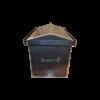 Коптильня с гидрозатвором: 520х310х330, крышка домик, сталь 2 мм