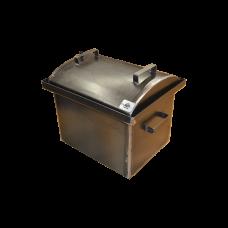 Коптильня с гидрозатвором: 420х340х330, крышка овал, сталь 2 мм
