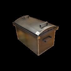Коптильня с гидрозатвором: 510х320х330, крышка овал, сталь 2 мм